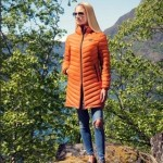Scandinavian Explorer dunkåpe ultra light 3/4 med hette orange