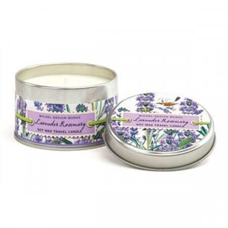 Michel Design Works  Lavender Rosemary Tin Travel Candle